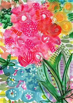 Spring Garden- Watercolor Art Poster by Linda Woods