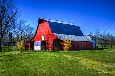 Spring Has Sprung Red Barn Tennessee Farm Scene Art Poster by Reid Callaway
