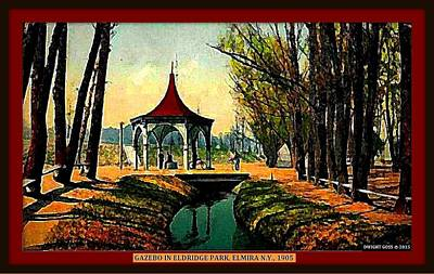 Spring House, Eldridge Park, Elmira Ny, 1906 Poster by Dwight GOSS