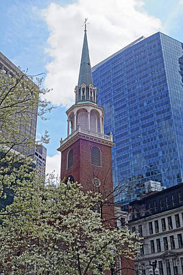 Spring In Boston Old South Meeting House Poster