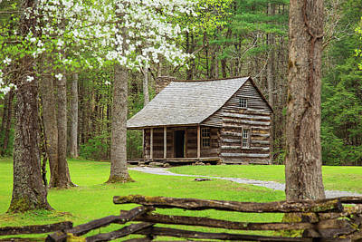 Spring In Cades Cove Poster by Jackie Novak
