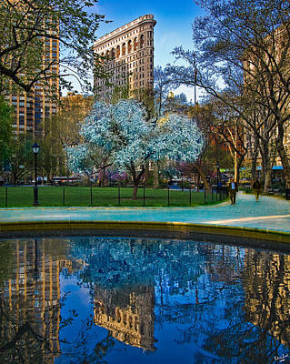 Poster featuring the photograph Spring In Madison Square Park by Chris Lord