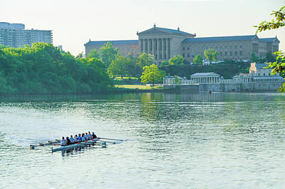Spring In Philadelphia - Rowing Crew Poster by Bill Cannon
