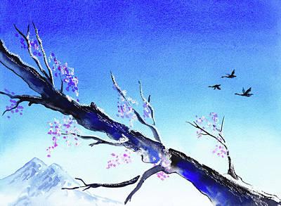 Spring In The Mountains Poster by Irina Sztukowski