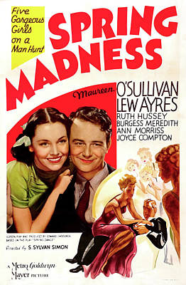 Spring Madness 1938 Poster by M G M