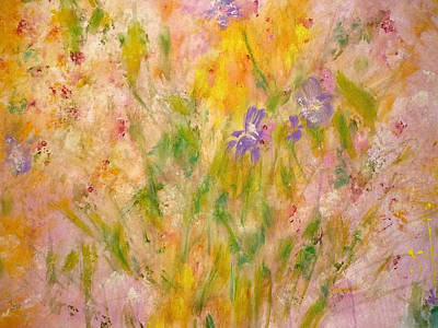 Spring Meadow Poster by Claire Bull