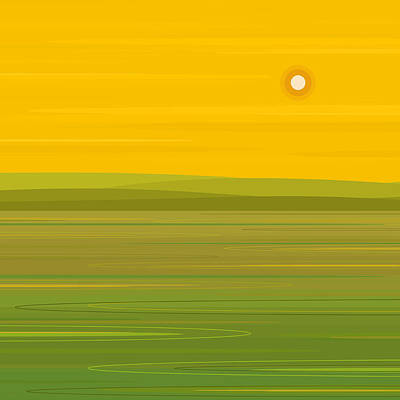 Poster featuring the digital art Spring Morning - Square by Val Arie
