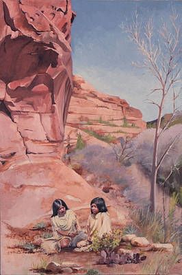 Spring On The Escalante Poster by Lester Nielsen