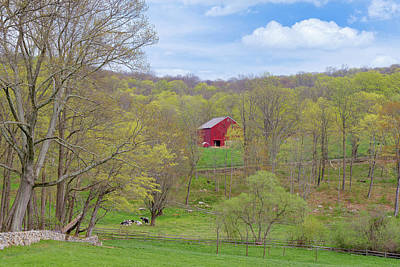 Spring Pasture New England Poster by Bill Wakeley