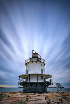 Spring Point Ledge Lighthouse Poster by Rick Berk