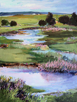 Poster featuring the painting Spring Runoff by Diane Ursin