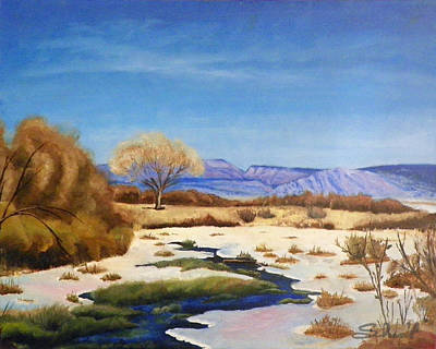 Poster featuring the painting Spring Runoff by Sherril Porter