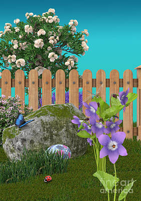 Poster featuring the digital art Spring Scene by Mary Machare