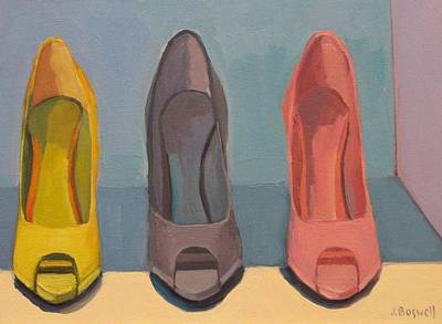 Poster featuring the painting Spring Shoes by Jennifer Boswell