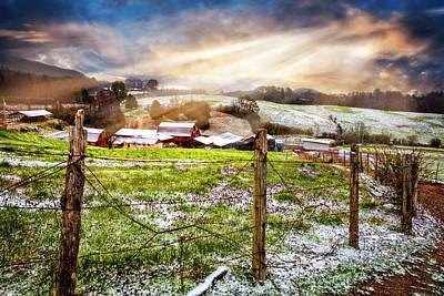 Spring Snowfall Poster by Debra and Dave Vanderlaan