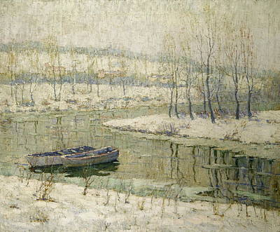 Spring Thaw Poster by Ernest Lawson