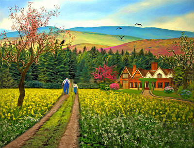 Spring Time In The Mountains Poster