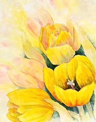Spring Tulips Poster by Carolyn Rosenberger
