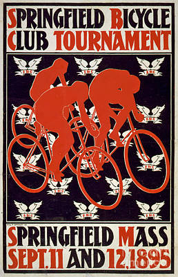 Springfield Bicycle Club Tournament Vintage Poster Poster