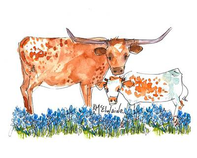 Springs Surprise Watercolor Painting By Kmcelwaine Poster