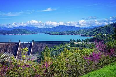 Springtime At Shasta Lake Dam Poster