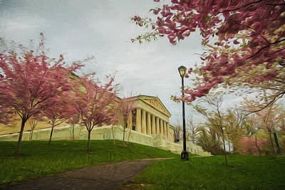 Springtime At The Buffalo History Museum - Artistic Poster by Chris Bordeleau