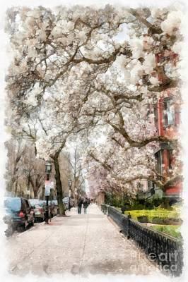 Springtime Boston Back Bay Poster by Edward Fielding