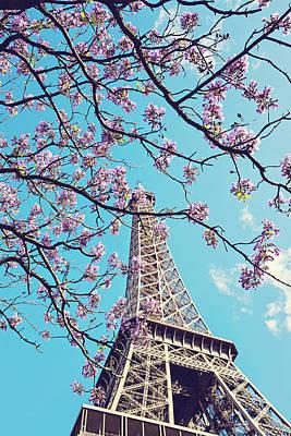 Springtime In Paris - Eiffel Tower Photograph Poster by Melanie Alexandra Price