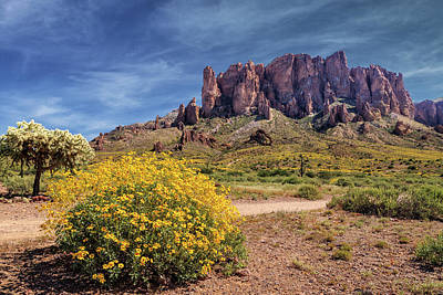 Poster featuring the photograph Springtime In The Superstition Mountains by James Eddy