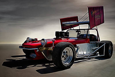 Sprint Car Poster by Douglas Pittman