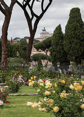 Sprintime In Rome, Vittoriale From Roses Garden 1 Poster