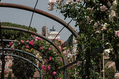 Sprintime In Rome, Vittoriale From Roses Garden 2 Poster