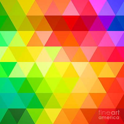 Square Spectrum Poster by Radu Bercan