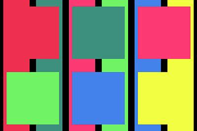 Square Stripe - Winter Poster