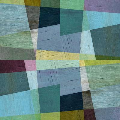 Squares And Shims Poster by Michelle Calkins