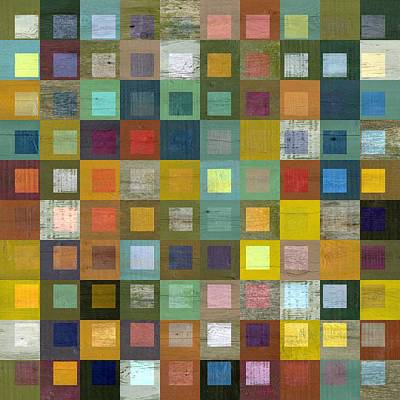 Squares In Squares Five Poster by Michelle Calkins