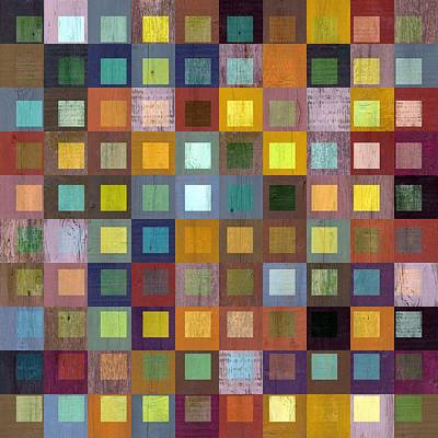 Squares In Squares One Poster by Michelle Calkins
