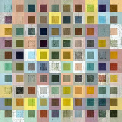 Squares In Squares Three Poster by Michelle Calkins