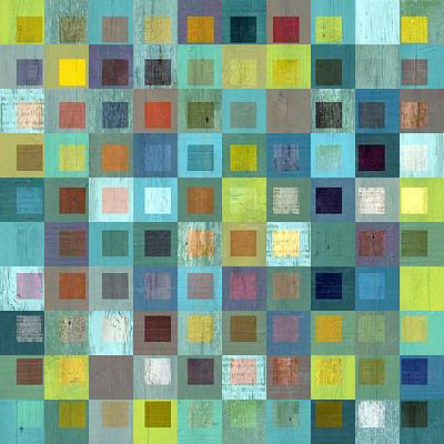 Squares In Squares Two Poster by Michelle Calkins