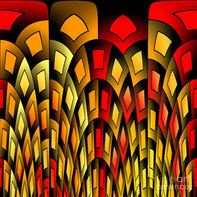 Squares Pattern Poster by Gaspar Avila
