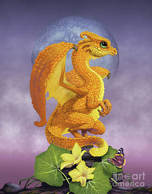 Poster featuring the digital art Squash Dragon by Stanley Morrison