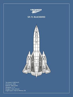 Sr-71 Blackbird Poster by Mark Rogan