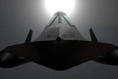 Sr 71 Night Mission Poster by David Lee Thompson