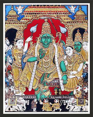 Sri Ramar Pattabhishekam Poster by Ragunath Venkatraman