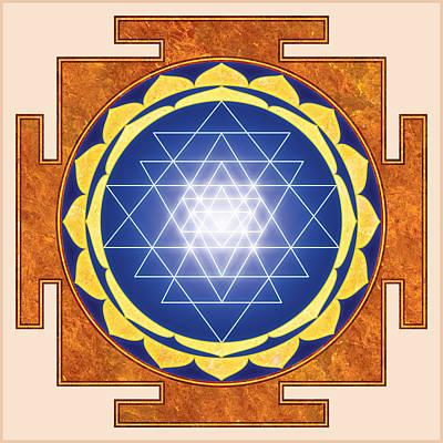 Sri Yantra. Sri Chakra. Yoga Decor. Astrology. Poster by Ananta Govinda