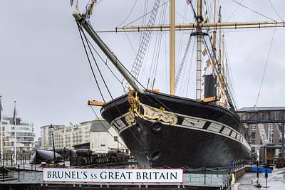 Ss Great Britain - Bristol Poster by Joana Kruse