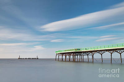 St Annes Pier - High Tide Poster by Tony Higginson