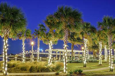 St. Augustine Bayfront Park During Nights Of Lights Poster