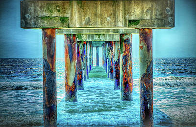 Poster featuring the photograph St. Augustine Beach by Louis Ferreira