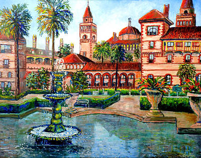 Poster featuring the painting St Augustine Florida by Lou Ann Bagnall